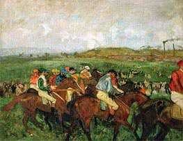 The Gentlemen's Race - Before the Start | Degas | Painting Reproduction