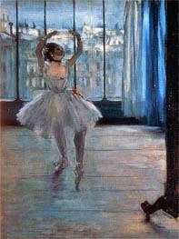 Dancer Posing at a Photographer's Studio, c.1874/77 by Degas | Painting Reproduction