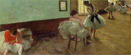 The Dance Lesson | Degas | Painting Reproduction