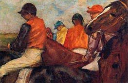 Jockeys, c.1881/85 by Degas | Painting Reproduction
