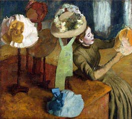 The Millinery Shop, c.1879/86 by Degas | Painting Reproduction