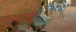 Dancers Ascending a Staircase, c.1886/90 by Degas | Painting Reproduction