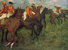 Jockeys, c.1895 by Degas | Painting Reproduction
