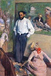 Portrait of the Painter Henri Michel-Levy, 1879 by Degas | Painting Reproduction