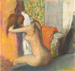 After the Bath, Woman Drying her Neck, 1898 by Degas | Painting Reproduction