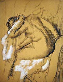 Woman Drying Herself, undated von Degas | Gemälde-Reproduktion
