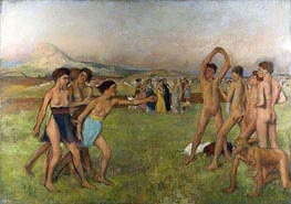 Young Spartans Exercising, c.1860 by Degas | Painting Reproduction