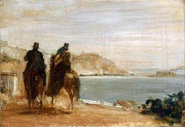 Promenade beside the Sea, c.1860 von Degas | Gemälde-Reproduktion