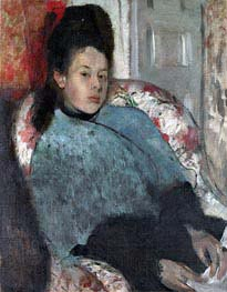 Portrait of Elena Carafa | Degas | Painting Reproduction