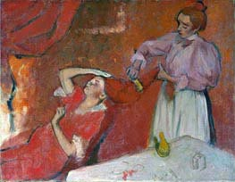 Combing the Hair ('La Coiffure'), c.1896 by Degas | Painting Reproduction