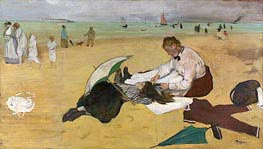 Beach Scene, c.1869/70 by Degas | Painting Reproduction