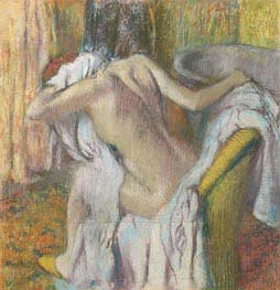 After the Bath, Woman Drying Herself, c.1890/95 by Degas | Painting Reproduction