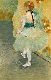 Dancer in Green, undated by Degas | Painting Reproduction