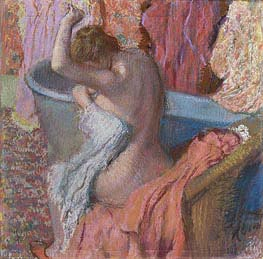 Wiping Bather, c.1895 by Degas | Painting Reproduction