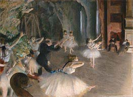 The Rehearsal Onstage, c.1874 by Degas | Painting Reproduction