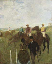 Jockeys at the Racecourse, undated von Degas | Gemälde-Reproduktion