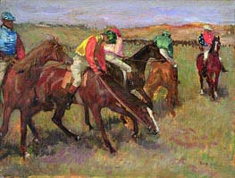 Before the Race, c.1882 by Degas | Painting Reproduction