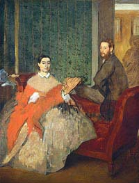 Edmondo and Therese Morbilli, c.1865 by Degas | Painting Reproduction