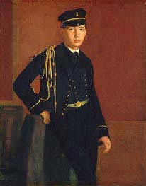 Achille De Gas in the Uniform of a Cadet, c.1856/57 von Degas | Gemälde-Reproduktion