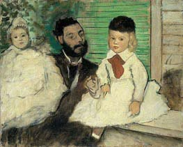 Ludovic Lepic and His Daughters | Degas | Painting Reproduction