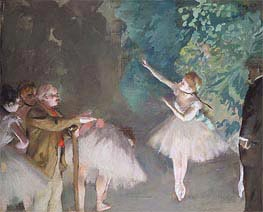 Ballet Rehearsal, 1875 by Degas | Painting Reproduction