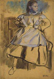 Giulia Bellelli, c.1858/59 by Degas | Painting Reproduction