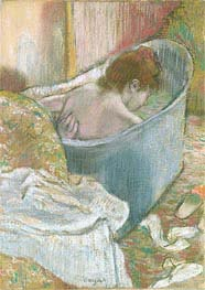 The Bath, undated by Degas | Painting Reproduction