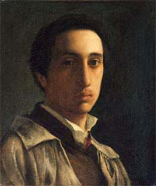 Self-Portrait, c.1854 by Degas | Painting Reproduction