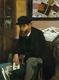 The Collector of Prints, 1866 by Degas | Painting Reproduction