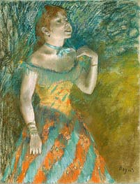 The Singer in Green, c.1884 von Degas | Gemälde-Reproduktion