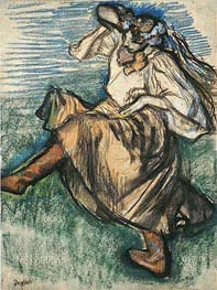 Russian Dancer, 1899 by Degas | Painting Reproduction