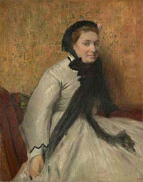 Portrait of a Woman in Gray, c.1865 by Degas | Painting Reproduction