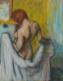 Woman with a Towel, c.1894/98 by Degas | Painting Reproduction
