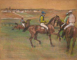 Race Horses, c.1885/88 by Degas | Painting Reproduction