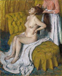 Woman Having Her Hair Combed, c.1886/88 von Degas | Gemälde-Reproduktion