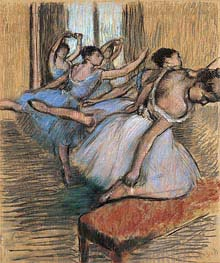 The Dancers, undated von Degas | Gemälde-Reproduktion
