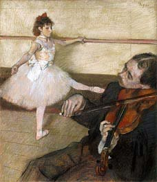 The Dance Lesson, c.1879 by Degas | Painting Reproduction