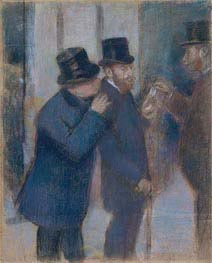 Portraits at the Stock Exchange, c.1878/79 by Degas | Painting Reproduction