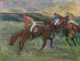 Three Jockeys, c.1900 von Degas | Gemälde-Reproduktion