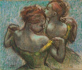 Two Dancers, Half-Length, undated by Degas | Painting Reproduction