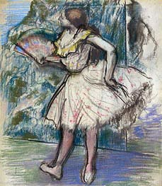 Dancer with a Fan, c.1890/95 by Degas | Painting Reproduction