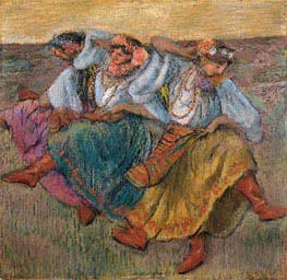 Russian Dancers, 1899 by Degas | Painting Reproduction