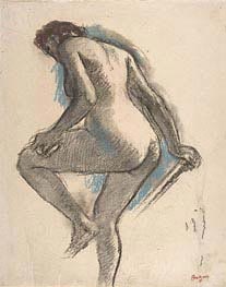 Bather Sponging Her Knee, c.1883/84 von Degas | Gemälde-Reproduktion