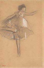 Dancer on Pointe, c.1878 von Degas | Gemälde-Reproduktion
