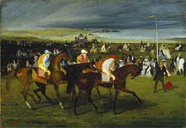 At the Races: The Start | Degas | Painting Reproduction