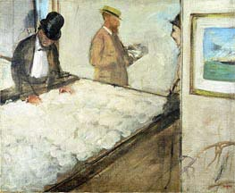Cotton Merchants in New Orleans, 1873 by Degas | Painting Reproduction