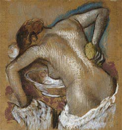 Woman Washing Her Back with a Sponge | Degas | Painting Reproduction
