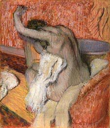 After the bath - woman drying herself | Degas | Painting Reproduction