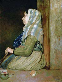 A Roman Beggar Woman | Degas | Painting Reproduction