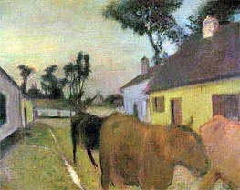 Return of the Herd, undated by Degas | Painting Reproduction